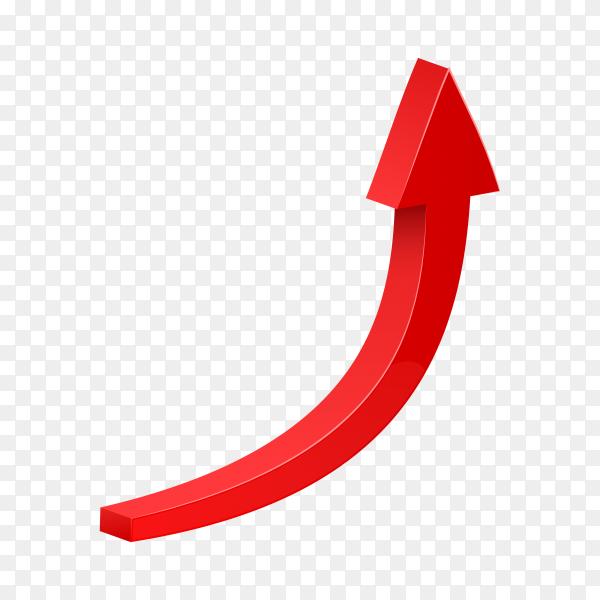 Arrow web curve direction illustration premium vector PNG