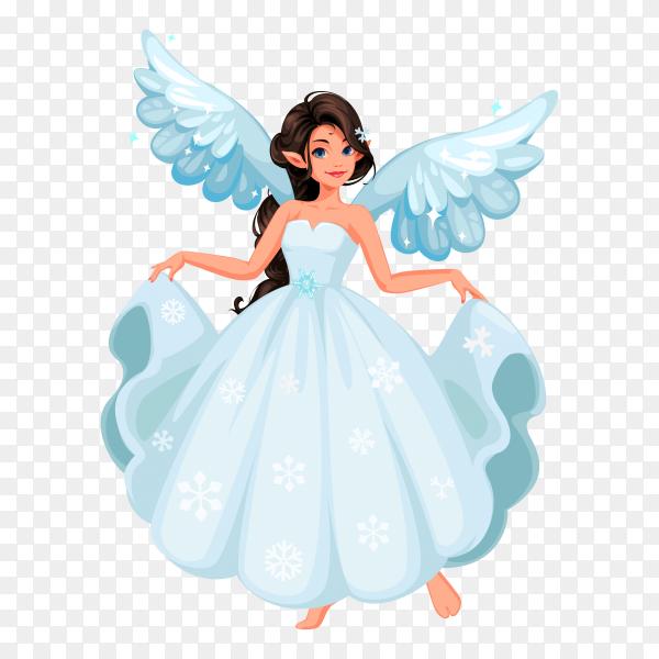 Beautiful snow fairy premium vector PNG