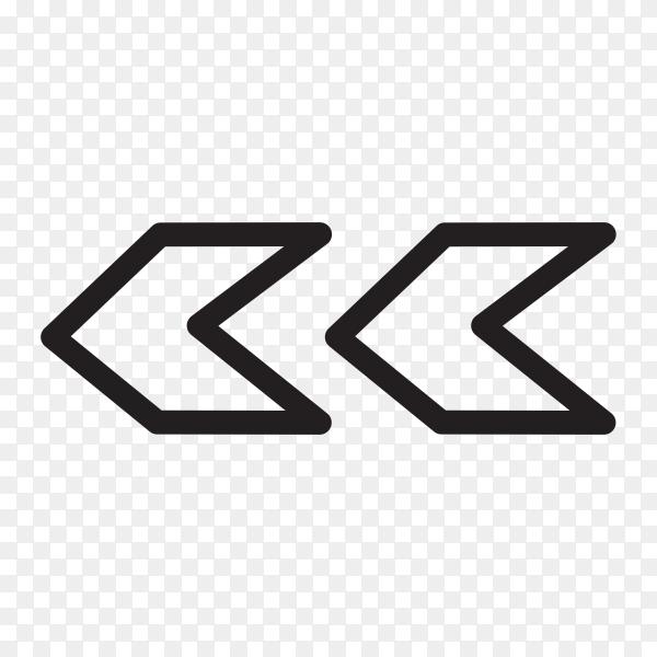 Black doodle arrow on transparent background PNG