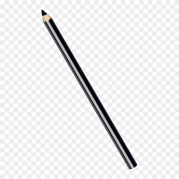 Black pencil for eyes on transparent background PNG
