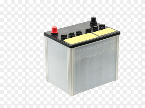 Car battery isolated on transparent background PNG