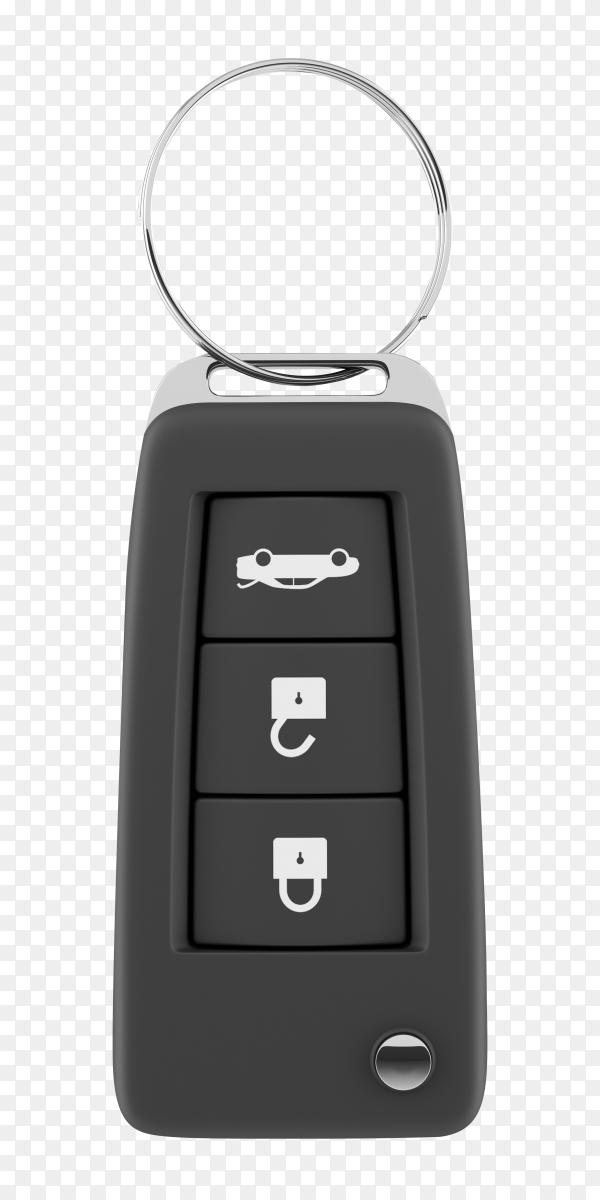 Car key with remote control on transparent background PNG