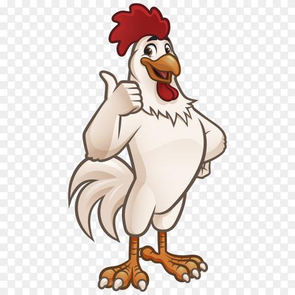 Cartoon rooster illustration on transparent background  PNG
