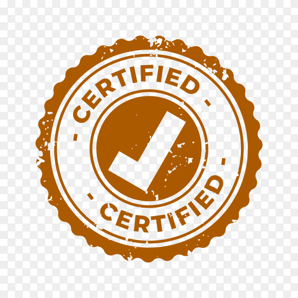 Certified and approved rubber stamp premium vector PNG