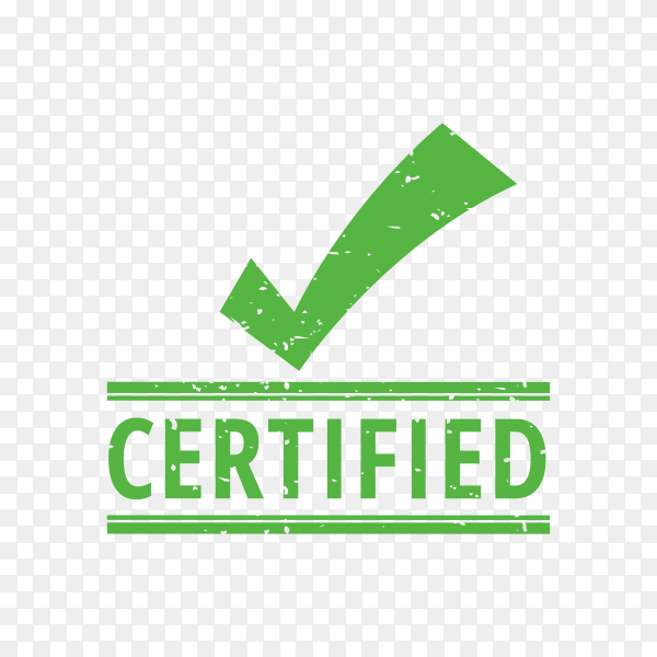 Certified seal on transparent background PNG