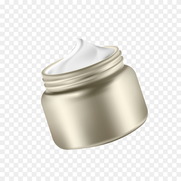 Close up of beauty cream container on transparent background PNG