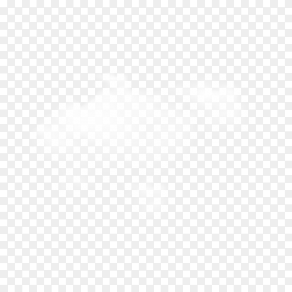 Cloud in realistic style on transparent background PNG