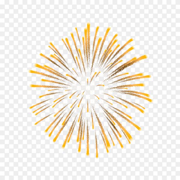 Colorful firework for festival on transparent background PNG