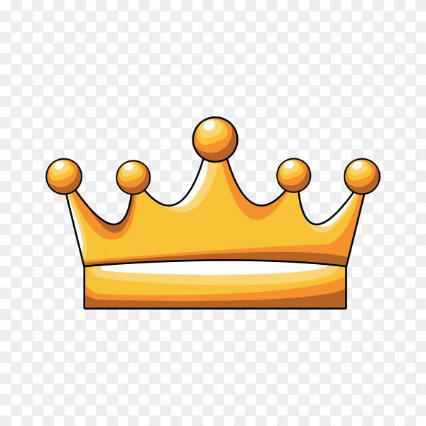 Crown golden royal symbol on transparent background PNG