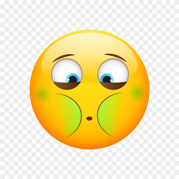 Emoji face icon on transparent background PNG