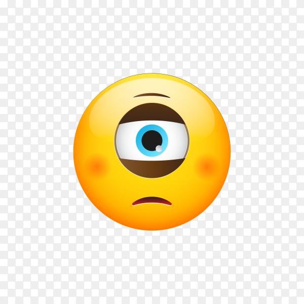 Emoji face on transparent background PNG