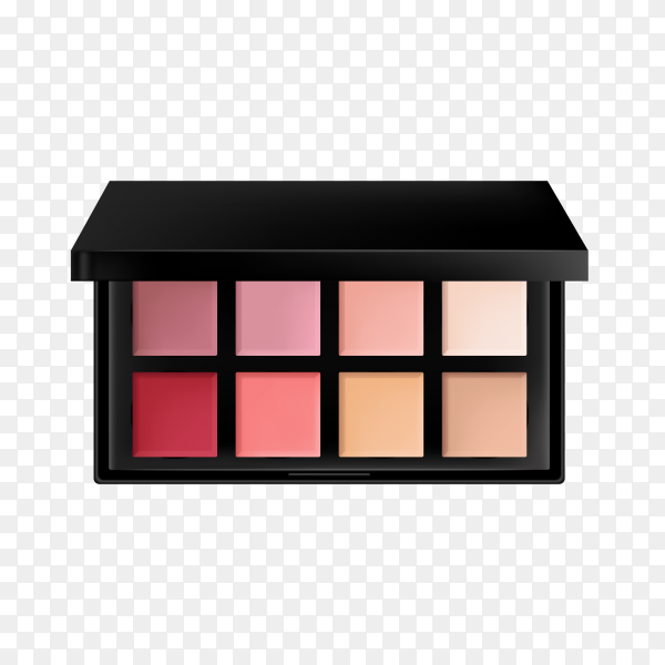 Eye shadow cosmetics on transparent background PNG