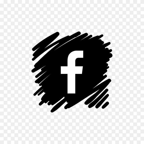 Black png icon facebook and white Icon Facebook