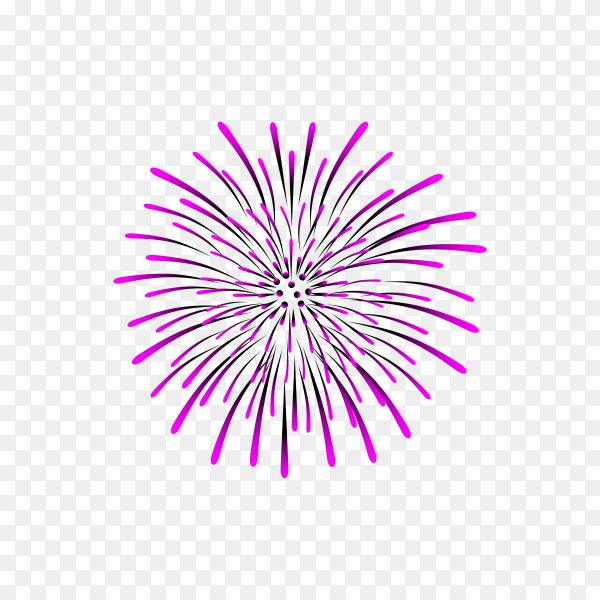 Firework multiple color on transparent background PNG