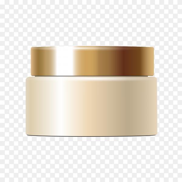 Foundation skin tone cream on transparent background PNG