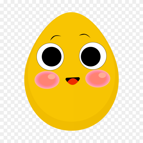 Funny emoji egg icon isolated on transparent background PNG