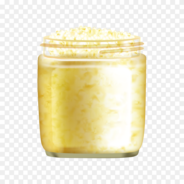 Gold scrub for body on transparent background PNG