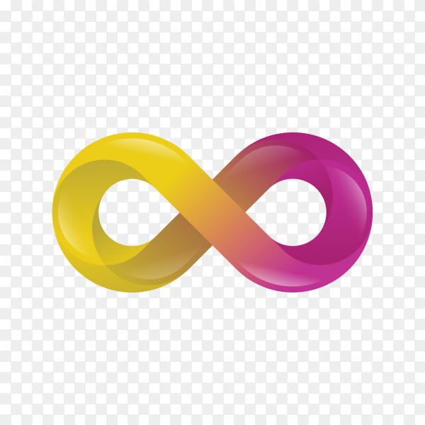 Gradient infinity logo modern concept on transparent background PNG