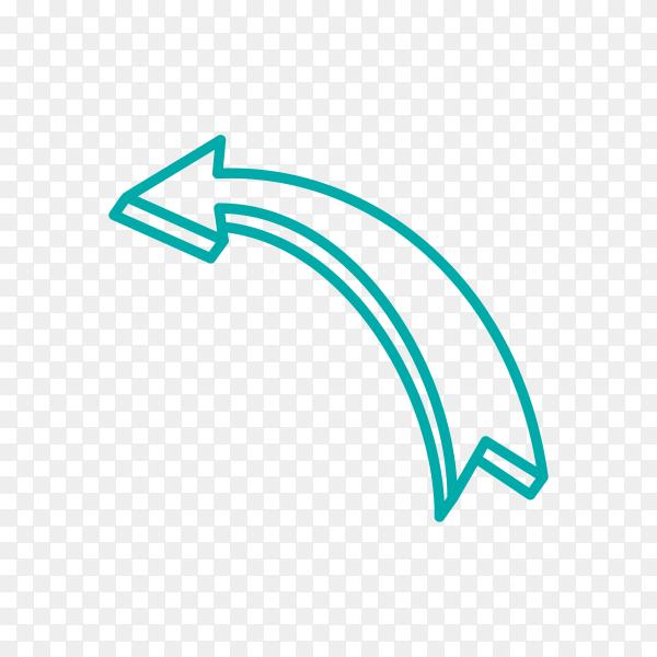 Hand drawn arrow. Doodle arrow premium vector PNG