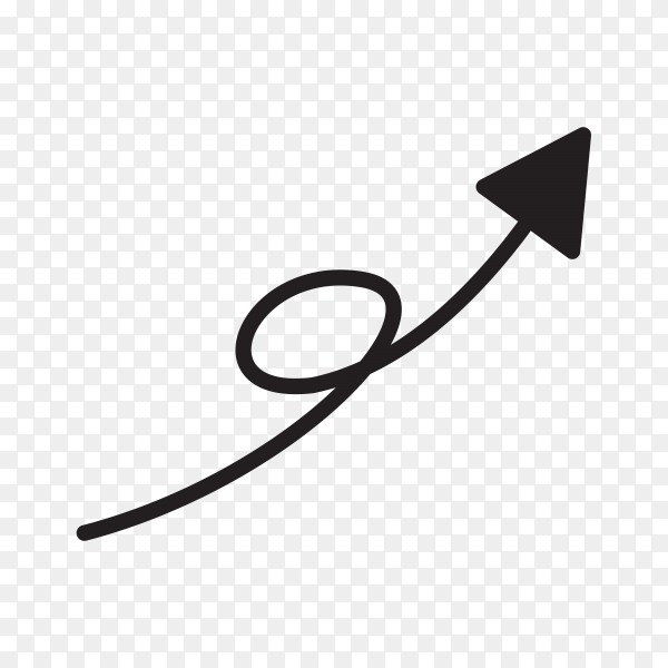 Hand drawn arrow mark icon Clipart PNG