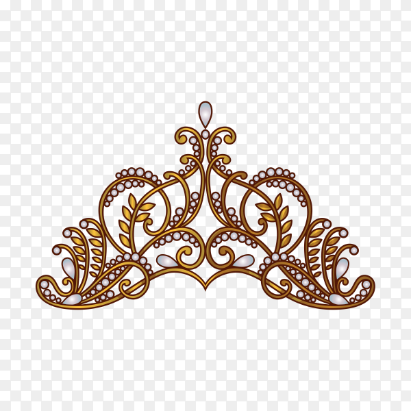 Hand drawn royal crown on transparent background PNG
