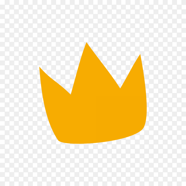 Illustration of crown icon design premium vector PNG
