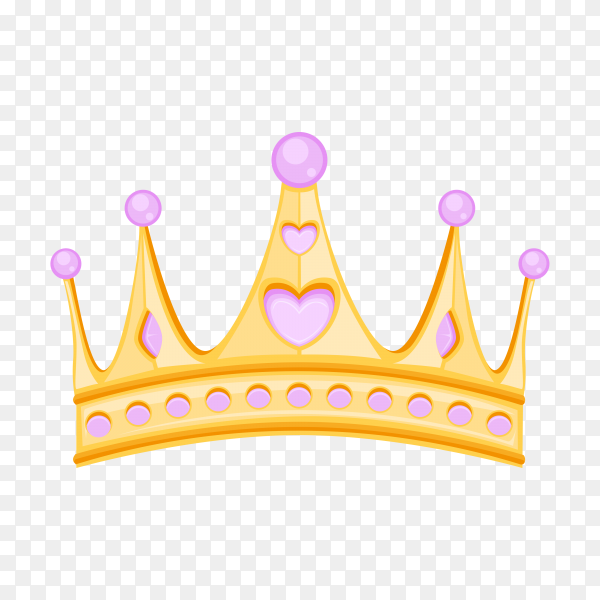Illustration of crown on transparent PNG