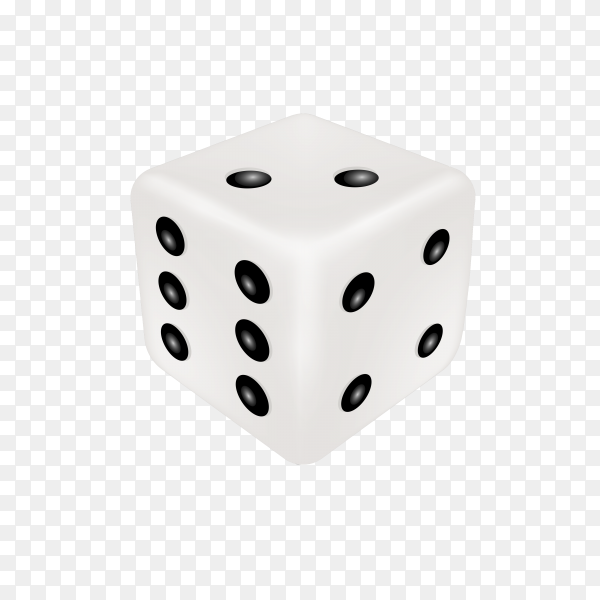 Illustration of dice on transparent background PNG