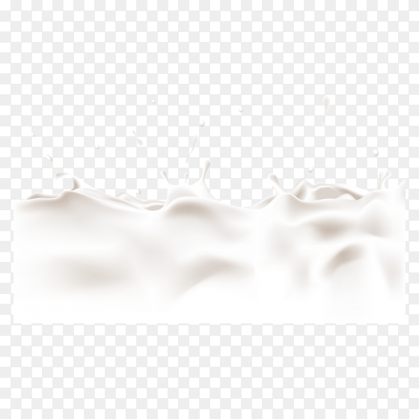 Illustration of splash of vanilla milk on transparent background PNG