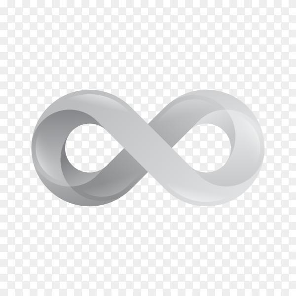 Infinity Symbol Logo on transparent background PNG