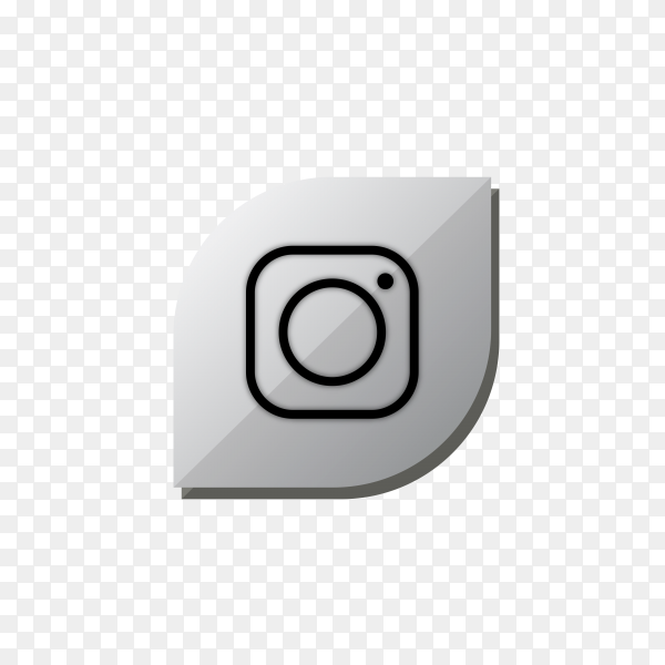 Instagram icon design isolated on transparent background PNG
