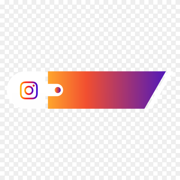 Instagram lower third icon on transparent PNG