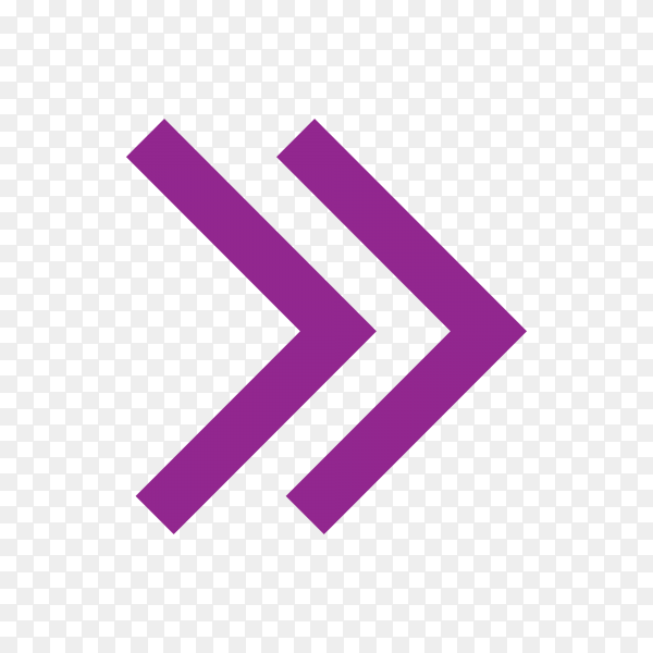 Isolated arrow, undo and previous button on transparent background PNG
