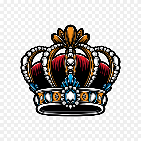 King crown on transparent background PNG