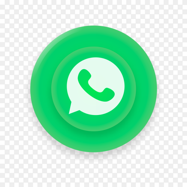 Realistic Button With Whatsapp Logo On Transparent Background Png Similar Png