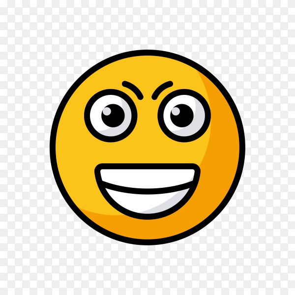Scared Emoji Icon on transparent background PNG