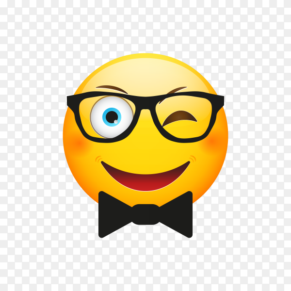 Smiling Face with Sunglasses on transparent background PNG