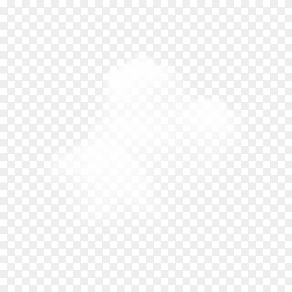 White cloud isolated on transparent background PNG
