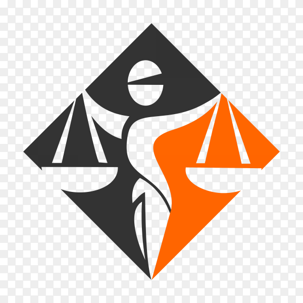 Attorney and law logo on transparent background PNG