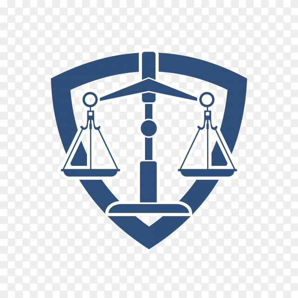 Attorney and law logo template on transparent background PNG