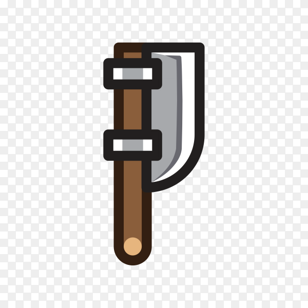 Axe for creating video game illustration premium vector PNG