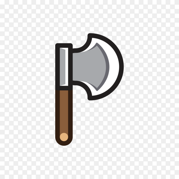 Axe for creating video game in flat design clipart PNG