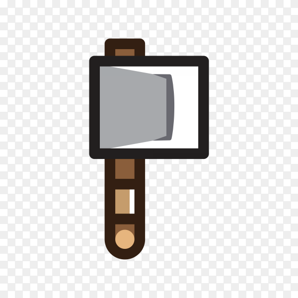 Axe for creating video game premium vector PNG
