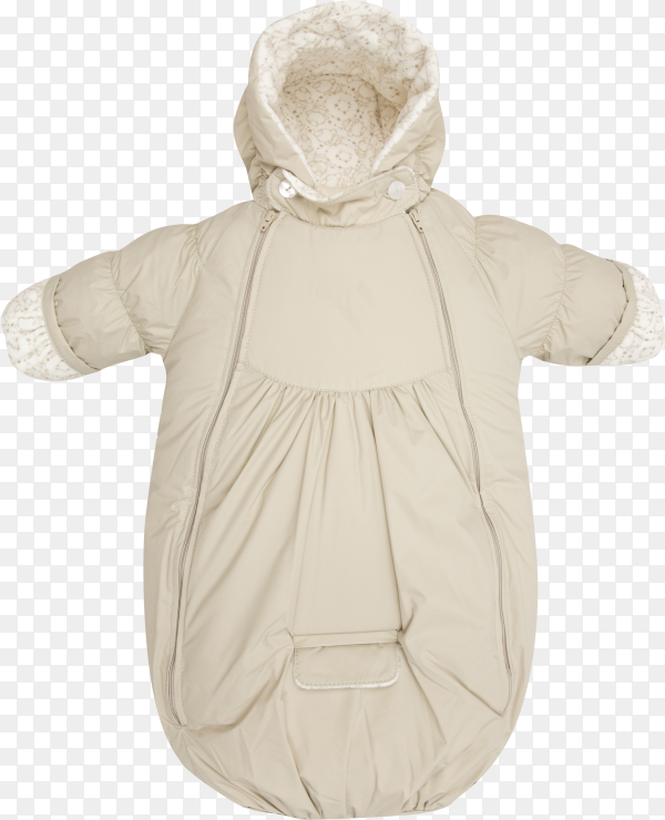 Baby snowsuit Coat bag on transparent background PNG
