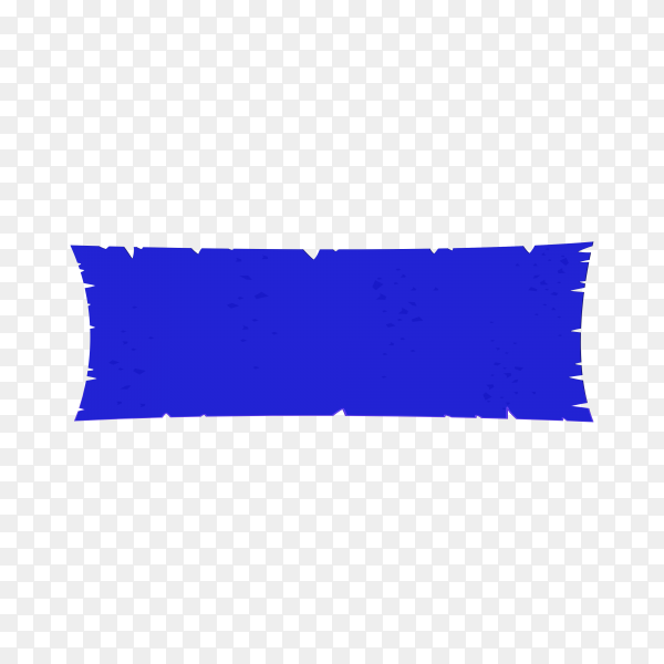Banner template in blue color on transparent background PNG