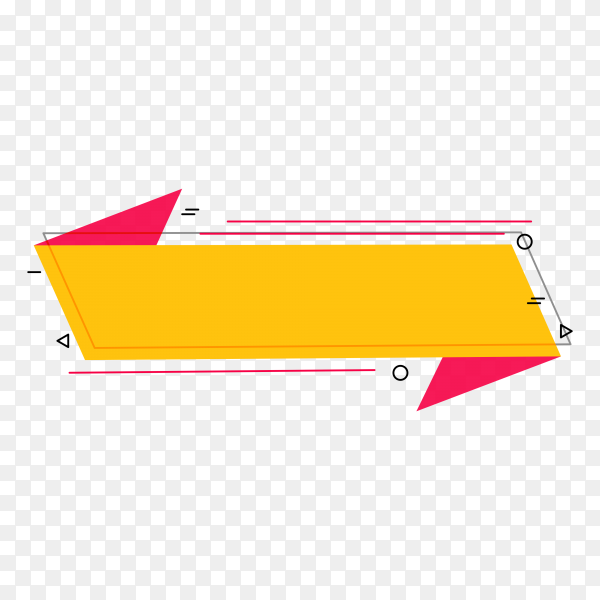 Banner template in flat design on transparent background PNG