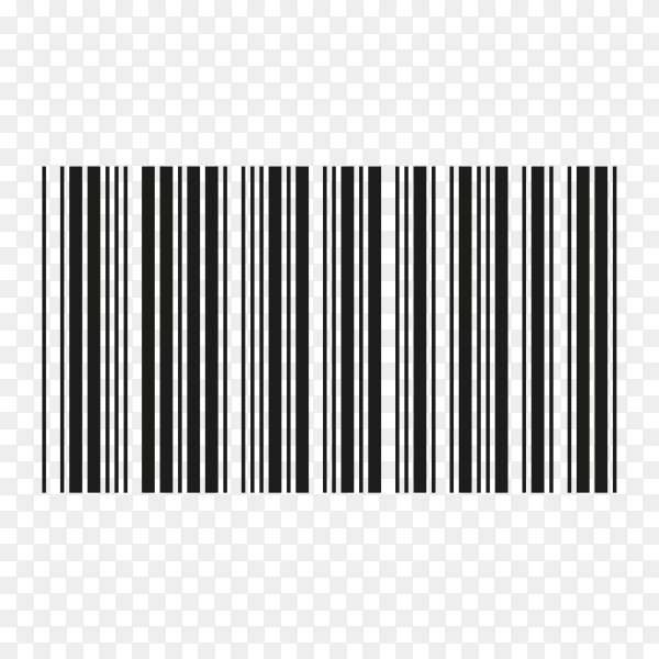 Barcode Template Icon on transparent background PNG