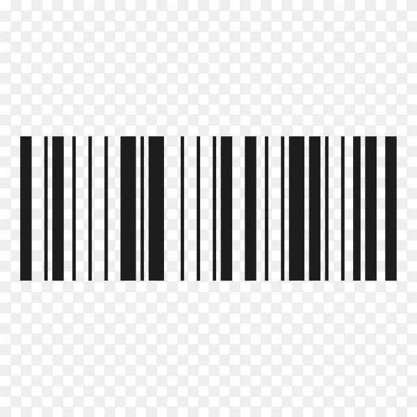Barcode flat icon bar code sign thin line symbol on transparent background PNG