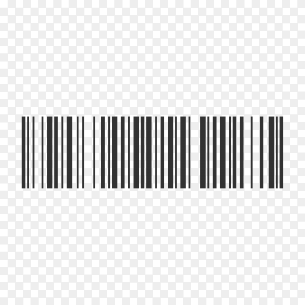 Barcode. Scan bar label, qr code and industrial barcode on transparent background PNG