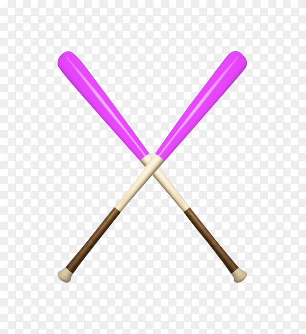 Baseball bats isolated on transparent background PNG
